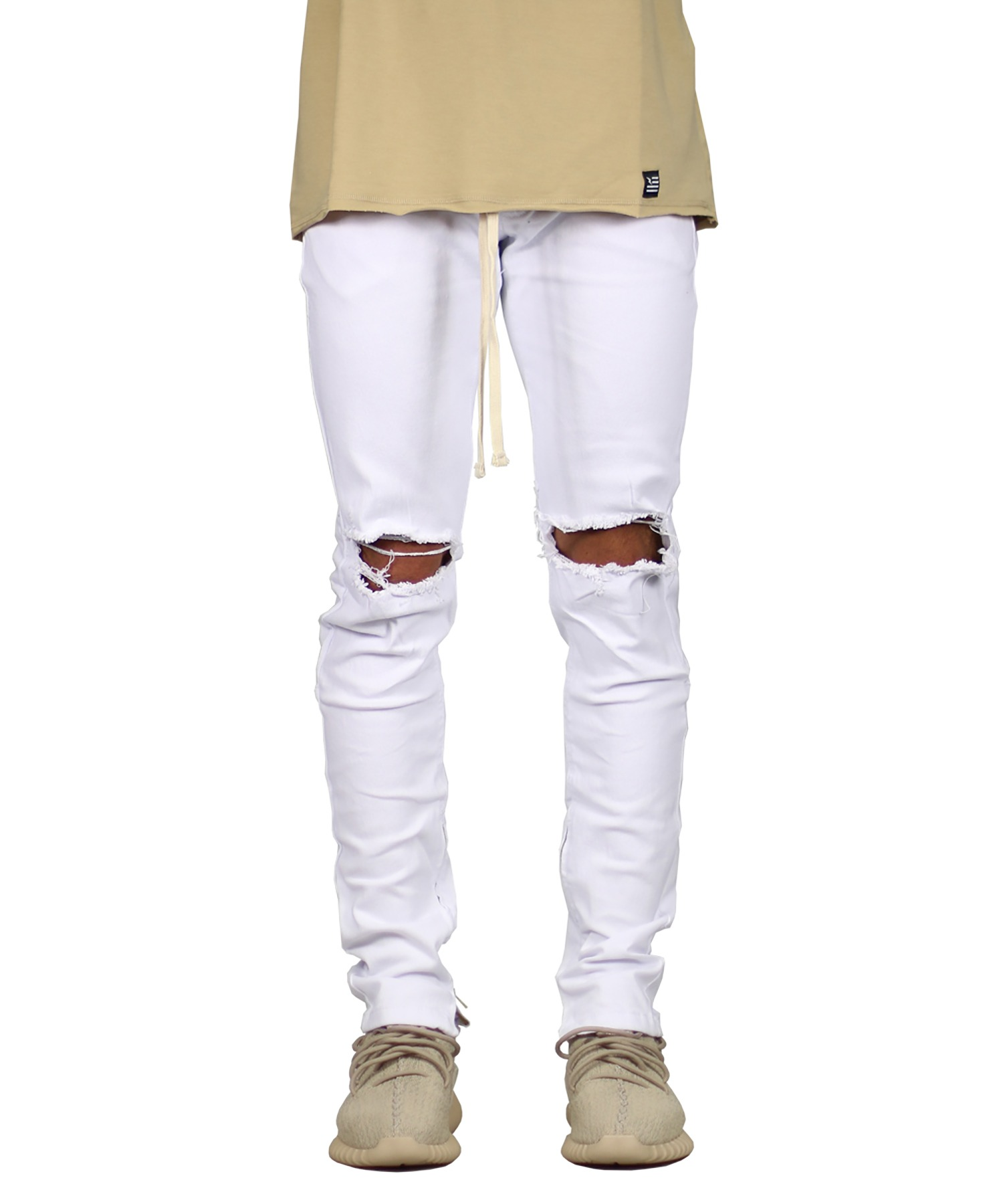 White Nate Zipper Pant