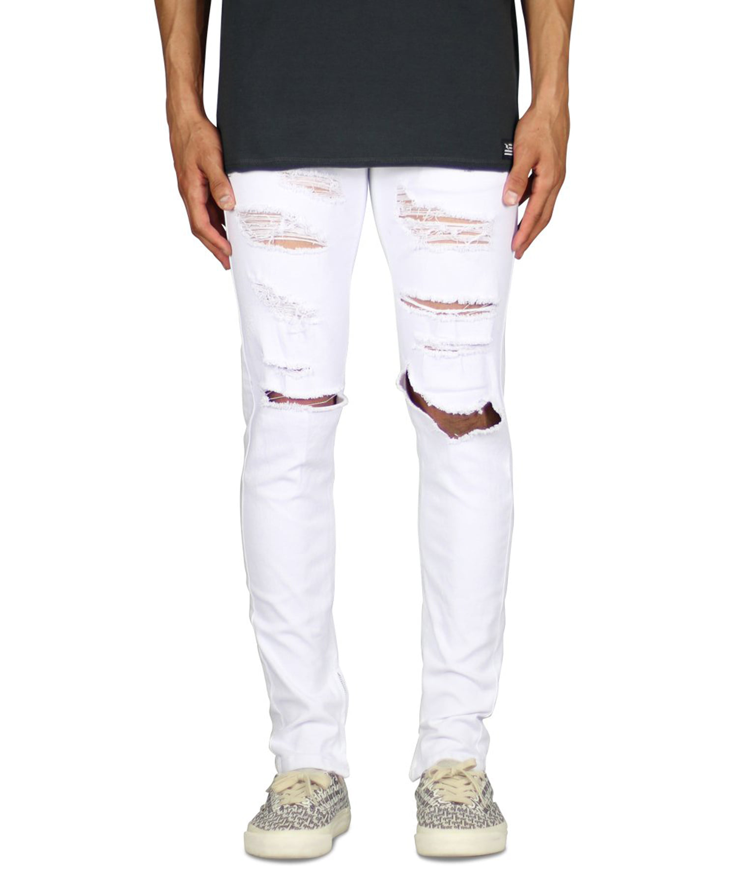 White Ato Zipper Pant