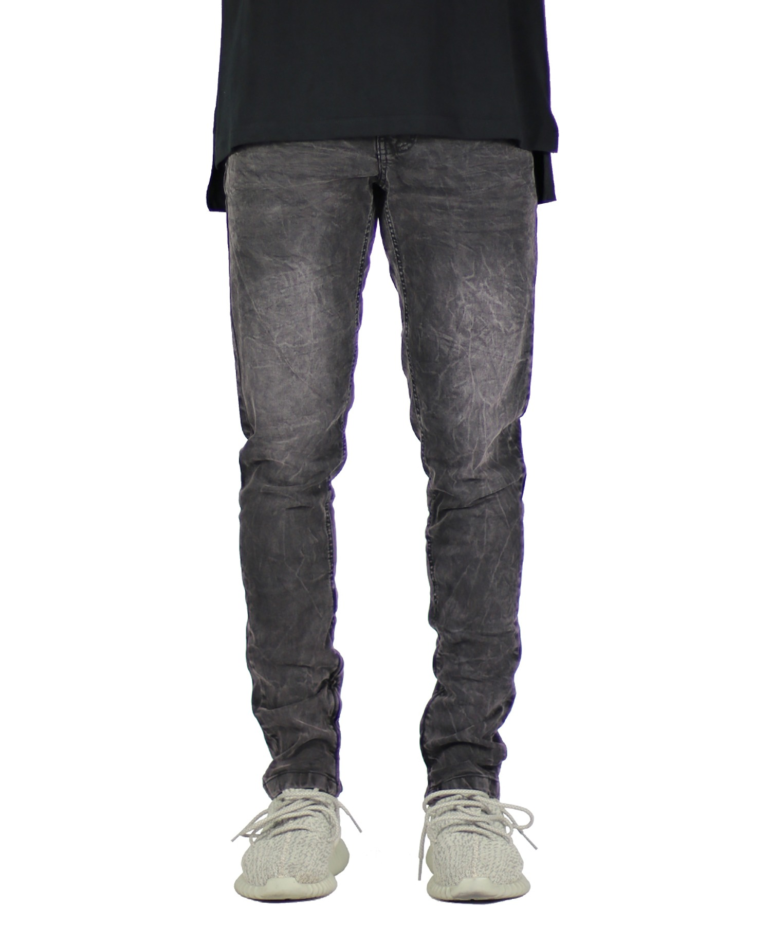 Fade Black Stack Zipper Jean